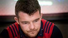 Difficult time: Munster captain Peter O'Mahony yesterday reflects on the death of coach Anthony Foley
