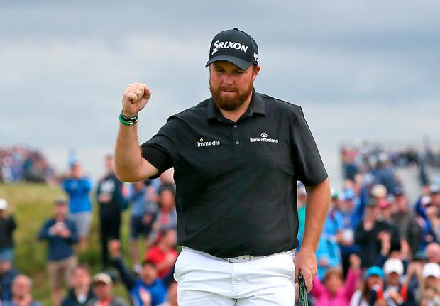Shane Lowry begins the final round of The Open Championship with a four shot lead.