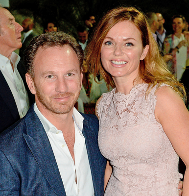 Geri Horner and her husband Christian. Photo: Samir Hussein/Getty Images for Royal Salute
