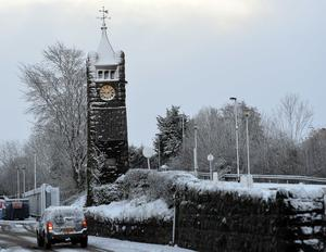 Pacemaker Press 08/12/2017 Snow time  in Crumlin , as heavy snow falls across  Northern Ireland on Friday morning, leaving difficult driving conditions for motorists and some schools closed. Pic Colm Lenaghan/ Pacemaker