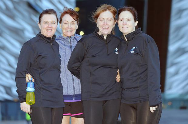 Michelle Huey, Mary Jo O'Neill, Stephanie McCoy and Brenda O'Neill from Moneymore. Picture by Jonathan Porter/PressEye