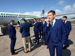 Northern Ireland's Roy Carroll pictured as they leave from George Best Belfast City Airport to take part in a training camp in Austria in advance of the 2016 Euros. Press Eye - Belfast -  Northern Ireland - 30th May 2016 - Photo by William Cherry