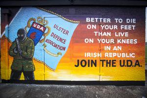 UDA mural in Carrickfergus shows terror gang is still recruiting.