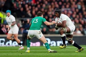 England's Maro Itoje (right) is tackled by Ireland's CJ Stander during the 2016 RBS Six Nations match at Twickenham Stadium, London.