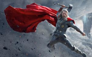 Chris Hemsworth as Thor in the Marvel blockbuster based on the Norse legends
