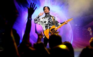 "FILE - 21 APRIL 2016: Musician Prince has reportedly Died at 57 on April 21, 2016. LOS ANGELES, CA - MARCH 28:  ***EXCLUSIVE***  Musician Prince performs his first of three shows onstage during ""One Night... Three Venues"" hosted by Prince and Lotusflow3r.com held at NOKIA Theatre L.A. LIVE on March 28, 2009 in Los Angeles, California.  (Photo by Kristian Dowling/Getty Images for Lotusflow3r.com)"