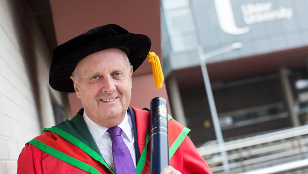 Civil engineer, David Orr, received the honorary degree of Doctor of Science (DSc) for his significant impact in the field of engineering. (Photo: Nigel McDowell/Ulster University)