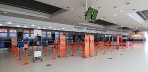 The check in hall at Belfast International Airport which reopens on Monday June 15th. PA Photo. Picture date: Thursday June 11, 2020. See PA story HEATH Coronavirus Ulster . Photo credit should read: Niall Carson/PA Wire