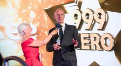Fire-fighter Noel McKee was named 999 Hero at the Sunday Life Spirit of Northern Ireland Awards. Picture Colm O'Reilly Sunday Life