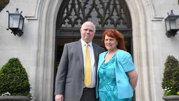 Barry and Margaret Mizen have worked to prevent youth violence since losing their son (Victoria Jones/PA)