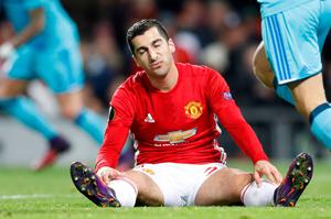 Manchester United's Henrikh Mkhitaryan dejected after a missed chance during the UEFA Europa League match at Old Trafford, Manchester. PA