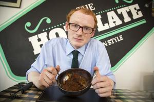 Turning up the heat: Our man with the four fiery hot wings. Pic: Mark McCormick/Sunday Life.