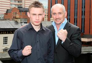 Team Jackal: Carl Frampton signs as a pro with Barry McGuigan's Cyclone Promotions team in 2009