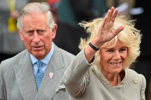 The Prince of Wales and the Duchess of Cornwall, during a visit to St Patrick's Church, in Belfast, Northern Ireland, as the Prince of Wales and the Duchess of Cornwall, attend a series of engagements in Northern Ireland following their two day visit in the Republic of Ireland. PRESS ASSOCIATION Photo. Picture date: Thursday May 21, 2015. The Prince of Wales has visited a Catholic church in Belfast that has been at the centre of a series of bitter marching disputes involving Protestant loyal orders and loyalist bands. St Patrick's Church has witnessed disorder and discord in recent years, with some parading loyalist bandsmen accused of provocative and sectarian behaviour while passing the place of worship. The visit of the prince and the Duchess of Cornwall will be seen as another symbolic gesture by a Royal family keen to contribute to reconciliation in Northern Ireland. See PA story ROYAL Ireland. Photo credit should read: Jeff J Mitchell/PA Wire