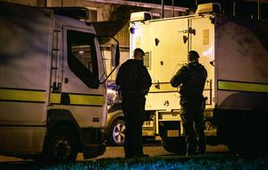 Police and ATO at the scene of an explosion in the Enniskeen area of Craigavon where a man was injured on December 1st 2020 (Photo by Kevin Scott for Belfast Telegraph)