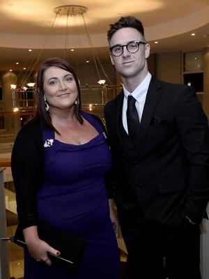 Press Eye - Belfast - Northern Ireland - 20th January  2020  Pauline Moore and Chris Picking pictured at the 2019 Belfast Telegraph Sport Awards at the Crowne Plaza Hotel in Belfast. Photo by Stephen Hamilton / Press Eye.