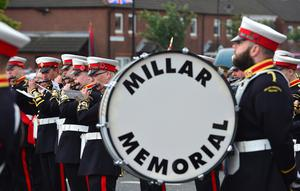 Thousands of Orange Order members are taking part in parades across Northern Ireland. The 12th of July parades mark the 326th anniversary of King William III's victory at the Battle of the Boyne in 1690. A total of 18 demonstrations are being held in towns and cities. Orange Order members pictured during the Belfast parade. Picture By: Arthur Allison /Pacemaker.