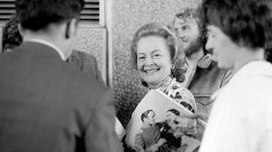 Hollywood actress Olivia de Havilland at the National Film Theatre on the South Bank (PA)