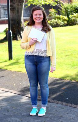 Picture - Kevin Scott / Belfast Telegraph  Belfast - Northern Ireland - Thursday 13th August 2015 - A Level Results Day   Pictured is Finola Bradley A* 2 A's during A level results day at St Dominics  Picture - Kevin Scott / Belfast Telegraph