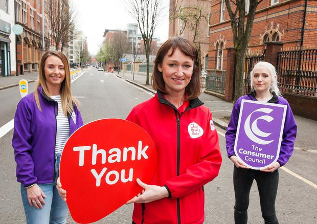 Noleen Charnley, senior consumer protection officer, The Consumer Council, Jenny Hutchinson, workplace health and wellbeing co-ordinator, Belfast HSCT area, Northern Ireland Chest Heart & Stroke and Tara Faulkner, communications officer, The Consumer Council
