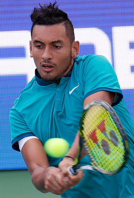 Troubled: Nick Kyrgios has had run-ins with officialdom. Photo: Kevin C. Cox/Getty Images