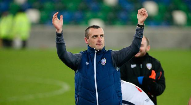 Bouncing back: Oran Kearney says Coleraine are in a good place