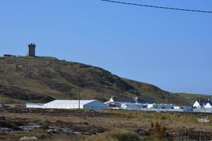 The view of the Star Wars film set from Ardmalin Caravan Park. Pic: Ardmalin Caravan Park