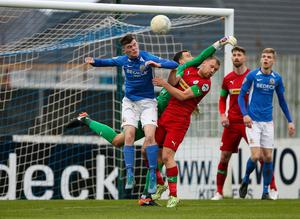 Glenavon and Cliftonville's club doctors have been discussing the Irish League's route back to action.