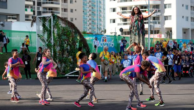 Dancers perform during the Paralympics GB Welcome Ceremony at the Athletes Village ahead of the 2016 Rio Paralympic Games, Brazil. PRESS ASSOCIATION Photo. Picture date: Sunday September 4, 2016. Photo credit should read: Andrew Matthews/PA Wire. EDITORIAL USE ONLY