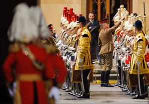 LONDON, ENGLAND - MAY 08:  Members of the Household Cavalry undergo last-minute checks at the Houses of Parliament on May 8, 2013 in London, England. Queen Elizabeth II will unveil the coalition government's legislative programme in a speech delivered to Members of Parliament and Peers in The House of Lords. Proposed legislation is expected to be introduced on toughening immigration regulations, capping social care costs in England and setting a single state pension rate of 144 GBP per week.  (Photo by Dominic Lipinski - WPA Pool/Getty Images)
