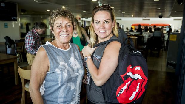 McBurney/Rolling Stones - 'STONES - NO FILTER' 2018 tour  Pictured Rolling Stones fans Lisa Dynes with her daughter Carrie Dynes from Bangor as they journey from Belfast to Dublin for the first date of the 'STONES - NO FILTER' 2018 tour at Croke Park.  Date: Thursday 17th May 2018 Location: Central Station, Belfast Credit: Liam McBurney/RAZORPIX Copyright: Liam McBurney/RAZORPIX  Liam McBurney +44 7837 685767 +44 2890 660676 liammcburney@gmail.com