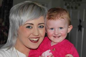 Journey: mum Poppi with little Sorcha