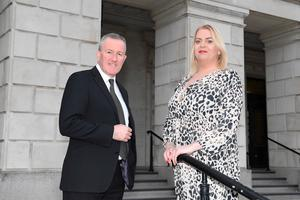 Finance Minister Conor Murphy with Ricki Kettle. Picture: Michael Cooper
