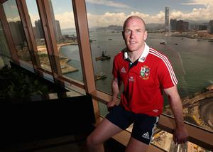HONG KONG - MAY 30:  Paul O'Connell poses after being announced as the Lions captain in their first match against the Barbarians after the British and Irish Lions team annoucement held at the Grand Hyatt on May 30, 2013 in Hong Kong.  (Photo by David Rogers/Getty Images)