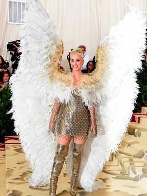 Katy Perry attending the Metropolitan Museum of Art Costume Institute Benefit Gala 2018 in New York, USA. PRESS ASSOCIATION Photo. Picture date: Monday May 7, 2018. See PA story SHOWBIZ MET Gala. Photo credit should read: Ian West/PA Wire