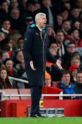 Arsenal manager Arsene Wenger gestures on the touchline during the UEFA Champions League match at the Emirates Stadium, London. PRESS ASSOCIATION Photo. Picture date: Tuesday February 23, 2016. See PA story SOCCER Arsenal. Photo credit should read: Adam Davy/PA Wire