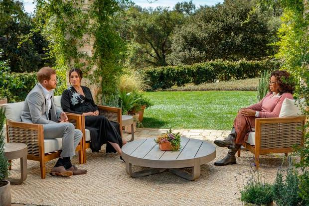 Oprah interviews Harry and Meghan. Picture CBS