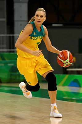 RIO DE JANEIRO, BRAZIL - AUGUST 09: Penny Taylor #7 of Australia against France in the Women's Preliminary Round Group A match between Australia and France on Day 4 of the Rio 2016 Olympic Games at Youth Arena on August 9, 2016 in Rio de Janeiro, Brazil. (Photo by Patrick Smith/Getty Images)