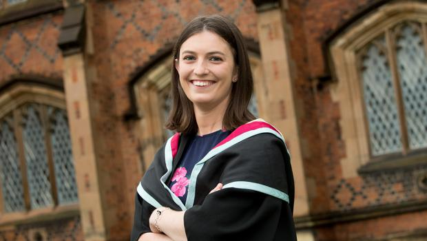 Ellen Hood celebrated graduating with a degree in Mechanical Engineering from the School of Mechanical and Aerospace Engineering at Queen's University Belfast.