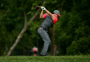 LOUISVILLE, KY - AUGUST 07: Rory McIlroy of Northern Ireland hits his tee shot on the 15th hole during the first round of the 96th PGA Championship at Valhalla Golf Club on August 7, 2014 in Louisville, Kentucky.  (Photo by Warren Little/Getty Images)