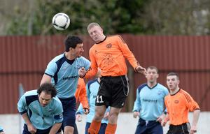 Action from Dunmurry Rec v Woodvale in the Clarence Cup 4th Round