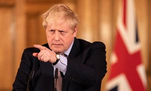 Prime Minister Boris Johnson speaking at a media briefing in Downing Street, London, on Coronavirus. Photo credit: Richard Pohle/The Times/PA Wire