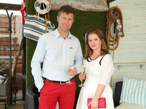 Richard Graham and Roisin Duffy enjoy a little taste of Long Island luxury as The Merchant Hotel celebrated the American holiday, Independence Day, in its Hamptons themed rooftop garden.