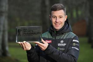 Jonathan Rea with his BBC Northern Ireland Sports Personality Of The Year Award