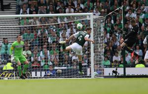 GLASGOW, SCOTLAND - MAY 26: Gary Hooper of Celtic scores the second goal during the William Hill Scottish Cup Final match between Celtic and Hibernian at Hampden Stadium on May 26, 2013 in Glasgow, Scotland. (Photo by Ian MacNicol/Getty Images)