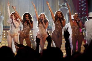 Girls Aloud comeback...File photo dated 18/02/2009 of Girls Aloud, who have confirmed their comeback four years after the chart-topping girl-band released their last album. PRESS ASSOCIATION Photo. Issue date: Tuesday October 9, 2012. The group - who celebrate their 10th anniversary next month - put a countdown clock on their website, marking nine days until Friday October 19. See PA story SHOWBIZ Aloud. Photo credit should read: Yui Mok/PA Wire...E