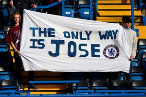 LONDON, ENGLAND - OCTOBER 31:  Chelsea fans hold a banner to show their faith to Jose Mourinho prior to the Barclays Premier League match between Chelsea and Liverpool at Stamford Bridge on October 31, 2015 in London, England.  (Photo by Ian Walton/Getty Images)