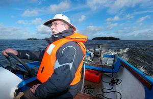 Peter McClelland who has been the warden of Coney Island on Lough Neagh since 1998