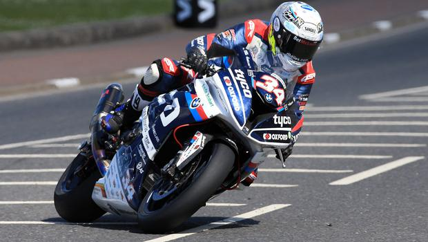 Pacemaker Belfast 12-5-18 Vauxhall International North West 200 -  superbike practice session Alastair Seeley (TYCO BMW) during today's  superbike practice session at the Vauxhall International North West 200 in Portrush.  Photo by David Maginnis/Pacemaker Press