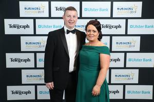 Press Eye - Belfast - Northern Ireland - 2nd May 2019 -   Martin and Collette McElmeel pictured at the Belfast Telegraph Business Awards in association with Ulster Bank at the Crowne Plaza Hotel, Belfast. Photo by Kelvin Boyes / Press Eye.